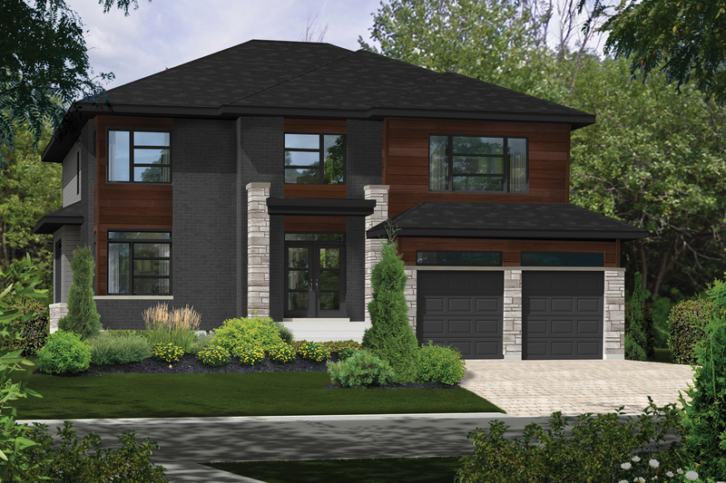 Dream House Plan - Contemporary Exterior - Front Elevation Plan #25-4904