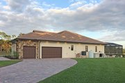 Mediterranean Style House Plan - 4 Beds 3 Baths 2953 Sq/Ft Plan #938-90 Exterior - Rear Elevation