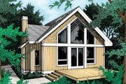 Modern Style House Plan - 1 Beds 1 Baths 1426 Sq/Ft Plan #93-201 Exterior - Front Elevation