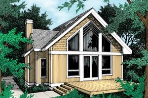Modern Exterior - Front Elevation Plan #93-201