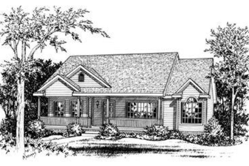 Traditional Exterior - Front Elevation Plan #20-422 - Houseplans.com