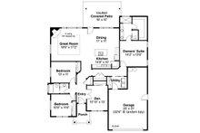 Craftsman Floor Plan - Main Floor Plan Plan #124-1031