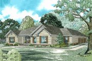 Traditional Style House Plan - 3 Beds 2.5 Baths 2096 Sq/Ft Plan #17-175 Exterior - Front Elevation
