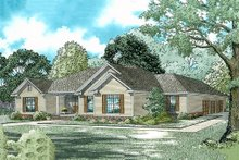 House Plan Design - Traditional Exterior - Front Elevation Plan #17-175