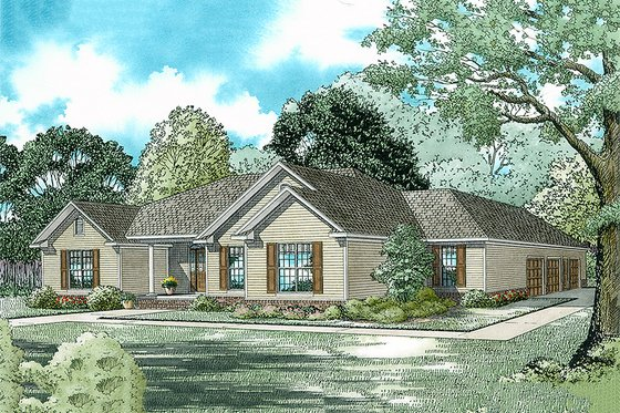 Traditional Exterior - Front Elevation Plan #17-175