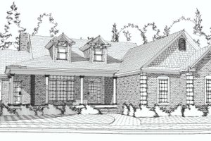 Country Exterior - Front Elevation Plan #63-190