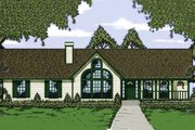 Traditional Style House Plan - 3 Beds 2 Baths 1470 Sq/Ft Plan #42-109 Exterior - Front Elevation