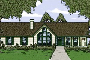Traditional Exterior - Front Elevation Plan #42-109