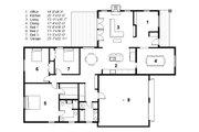 Craftsman Style House Plan - 3 Beds 2 Baths 2157 Sq/Ft Plan #497-45 Floor Plan - Main Floor Plan