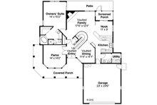 Mediterranean Floor Plan - Main Floor Plan Plan #124-435