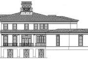 European Style House Plan - 4 Beds 5.5 Baths 5613 Sq/Ft Plan #119-190 Exterior - Rear Elevation