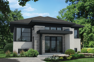 Contemporary Exterior - Front Elevation Plan #25-4323