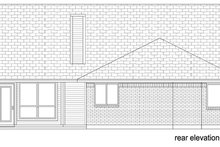 Dream House Plan - Cottage Exterior - Rear Elevation Plan #84-518