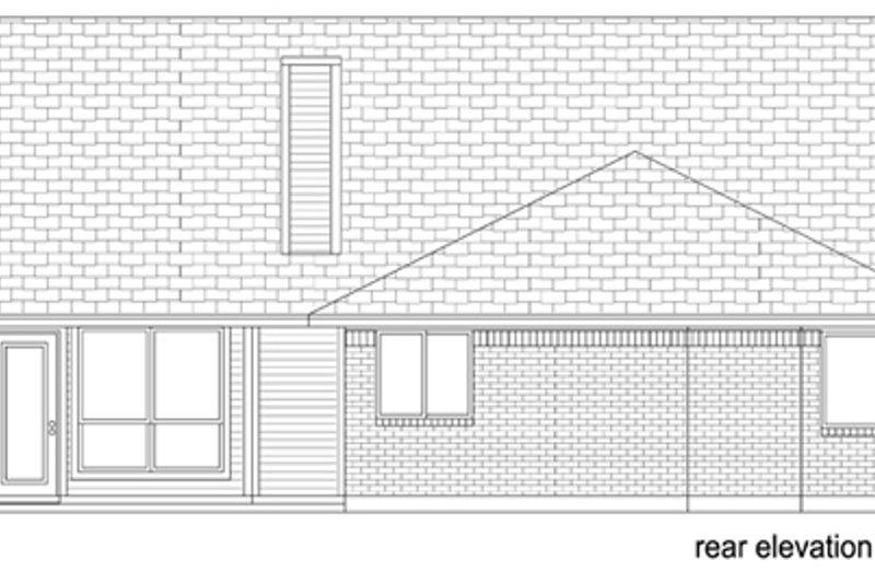 Cottage Exterior - Rear Elevation Plan #84-518 - Houseplans.com