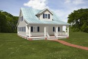 Farmhouse Style House Plan - 3 Beds 2 Baths 1684 Sq/Ft Plan #497-10 Exterior - Front Elevation