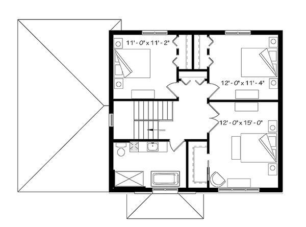Modern Floor Plan - Upper Floor Plan Plan #23-2642