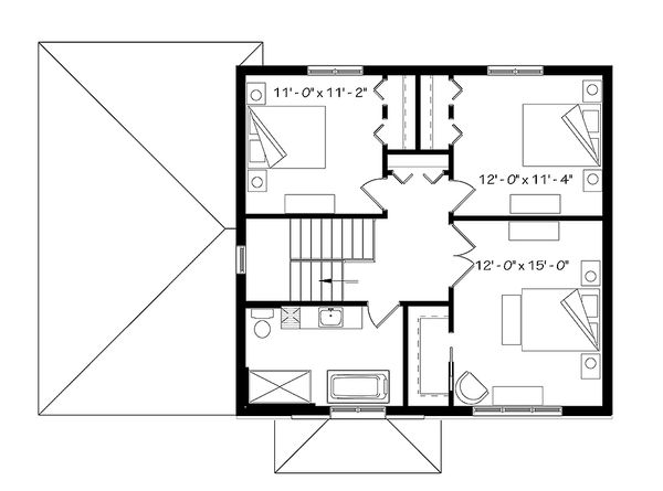 House Plan Design - Modern Floor Plan - Upper Floor Plan #23-2642