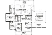 Country Style House Plan - 3 Beds 2.5 Baths 2632 Sq/Ft Plan #63-292 Floor Plan - Main Floor Plan