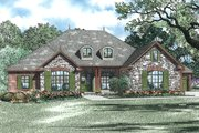 European Style House Plan - 3 Beds 2.5 Baths 2618 Sq/Ft Plan #17-2456 Exterior - Front Elevation
