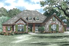 House Plan Design - texas ranch house with 4 garage bays or a large workshop.