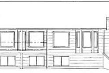 Home Plan - Ranch Exterior - Rear Elevation Plan #58-190