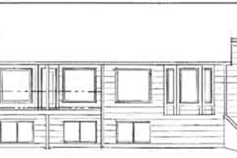 Ranch Exterior - Rear Elevation Plan #58-190 - Houseplans.com