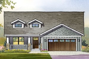 Craftsman Exterior - Front Elevation Plan #901-122