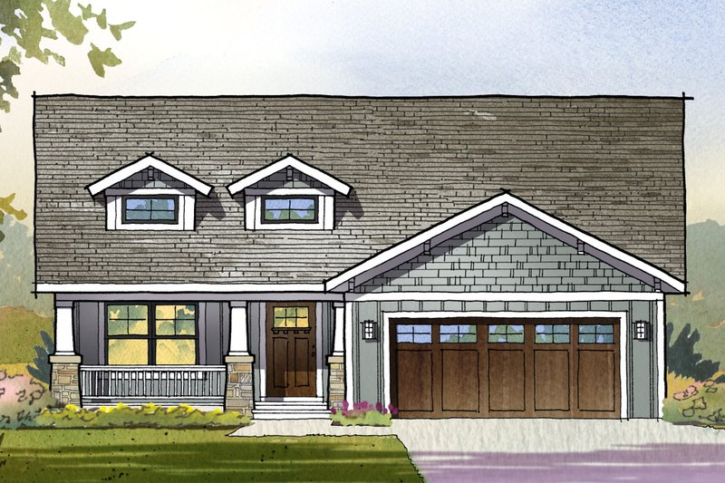 Craftsman Style House Plan - 3 Beds 2.5 Baths 3001 Sq/Ft Plan #901-122
