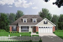 Traditional Exterior - Front Elevation Plan #40-165