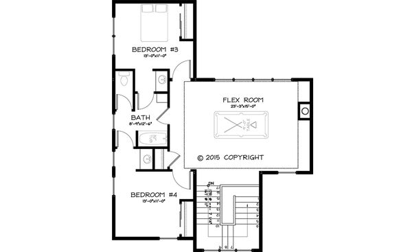 Traditional Style House Plan - 4 Beds 3 Baths 3070 Sq/Ft Plan #895-43 Floor Plan - Upper Floor Plan