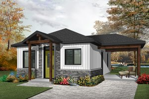 House Design - Ranch Exterior - Front Elevation Plan #23-2607