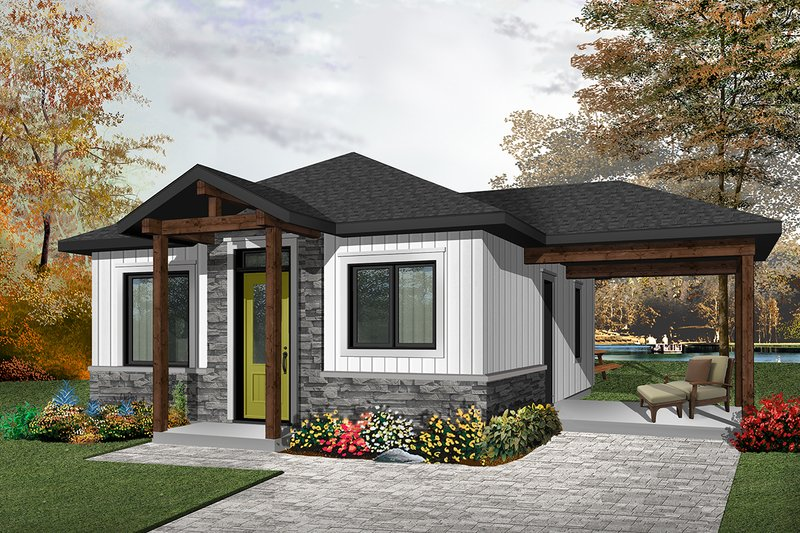 Home Plan - Ranch Exterior - Front Elevation Plan #23-2607