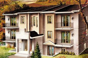 Contemporary Exterior - Front Elevation Plan #25-4425