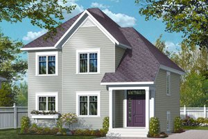 Country Exterior - Front Elevation Plan #23-2251