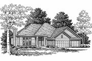 Traditional Style House Plan - 3 Beds 2 Baths 1724 Sq/Ft Plan #70-179 Exterior - Front Elevation