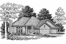 Dream House Plan - Traditional Exterior - Front Elevation Plan #70-179