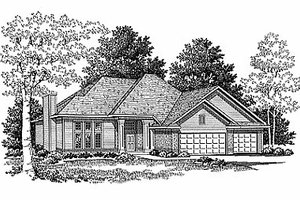 Traditional Exterior - Front Elevation Plan #70-179