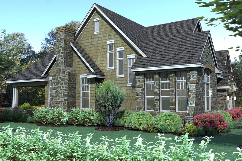 Traditional Exterior - Other Elevation Plan #120-166 - Houseplans.com