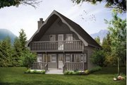 Cabin Style House Plan - 3 Beds 2 Baths 1286 Sq/Ft Plan #47-665 Exterior - Front Elevation