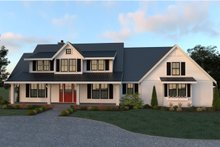 Dream House Plan - Farmhouse Exterior - Front Elevation Plan #1070-19