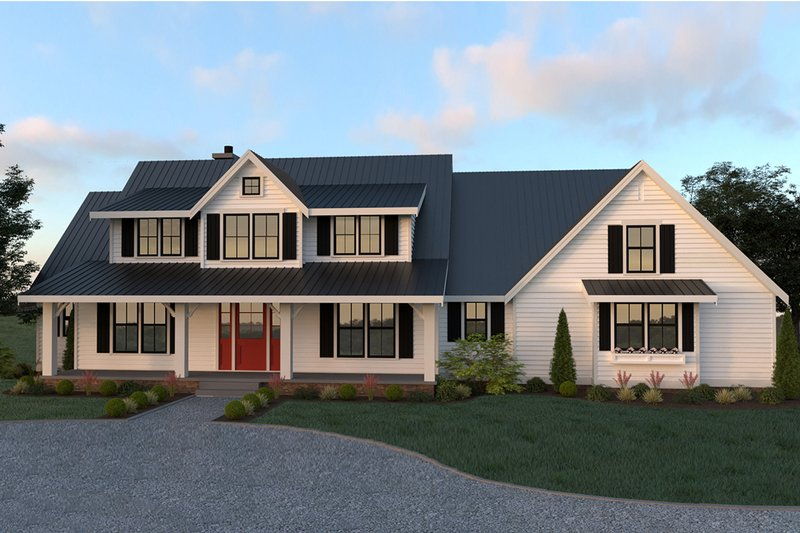 Farmhouse Style House Plan - 4 Beds 2.5 Baths 2878 Sq/Ft Plan #1070-19 Exterior - Front Elevation
