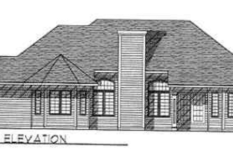 Traditional Exterior - Rear Elevation Plan #70-345 - Houseplans.com