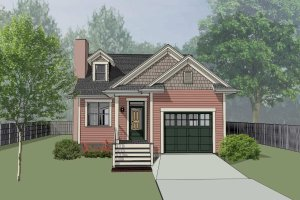 Bungalow Exterior - Front Elevation Plan #79-307
