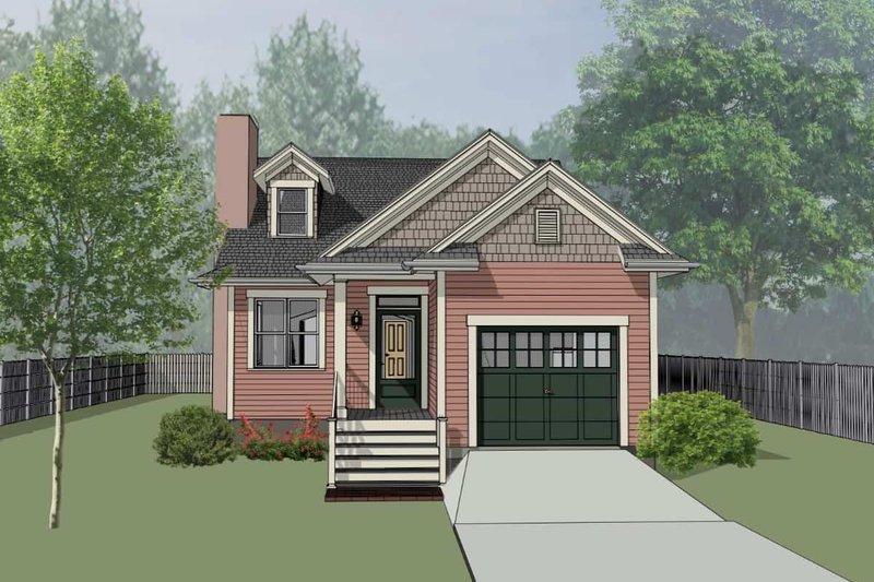 Home Plan - Bungalow Exterior - Front Elevation Plan #79-307