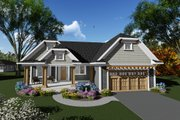 Craftsman Style House Plan - 3 Beds 2 Baths 1840 Sq/Ft Plan #70-1267 Exterior - Front Elevation