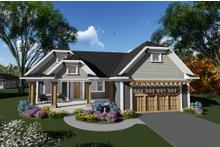 Home Plan Design - Craftsman Exterior - Front Elevation Plan #70-1267