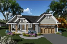 Dream House Plan - Craftsman Exterior - Front Elevation Plan #70-1267