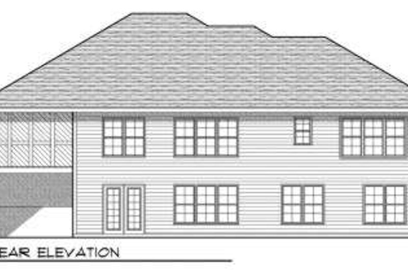 Ranch Exterior - Rear Elevation Plan #70-688 - Houseplans.com