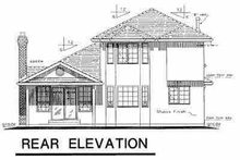 House Blueprint - European Exterior - Rear Elevation Plan #18-203