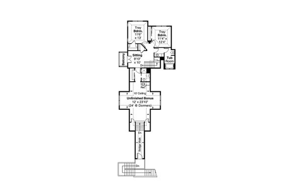Dream House Plan - European Floor Plan - Upper Floor Plan #124-1200